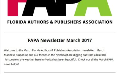 March 2017 FAPA Newsletter Is Out. Check It Out Today!