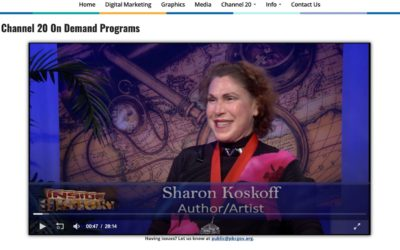 Sharon Koskoff, FAPA member and 2019 medal winner, featured on Palm Beach County TV